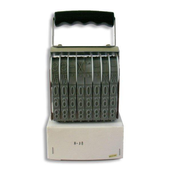 timbro numeratore 8 cifre da mm. 15
